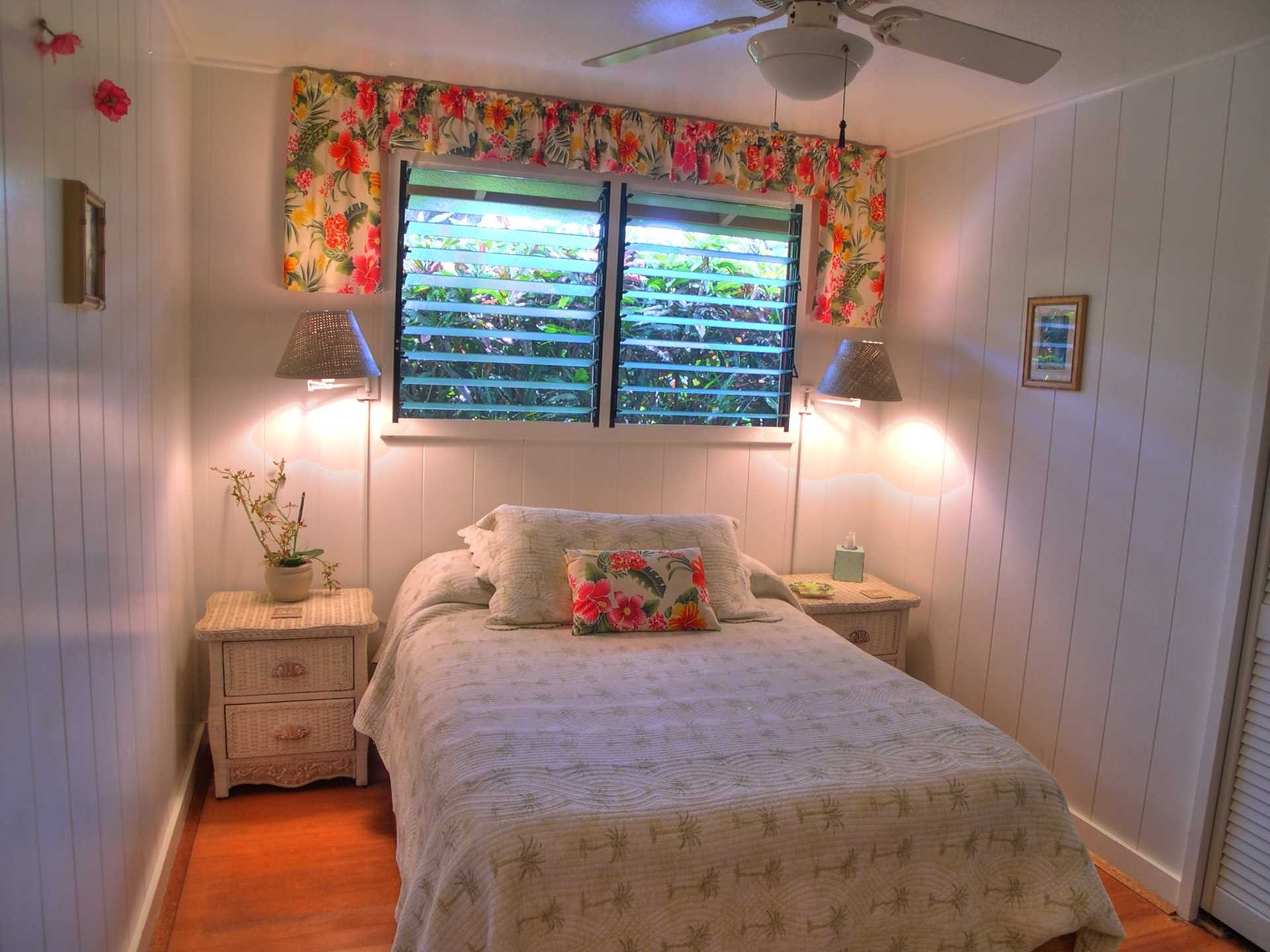 The Hula Room is a fun little room with a double bed