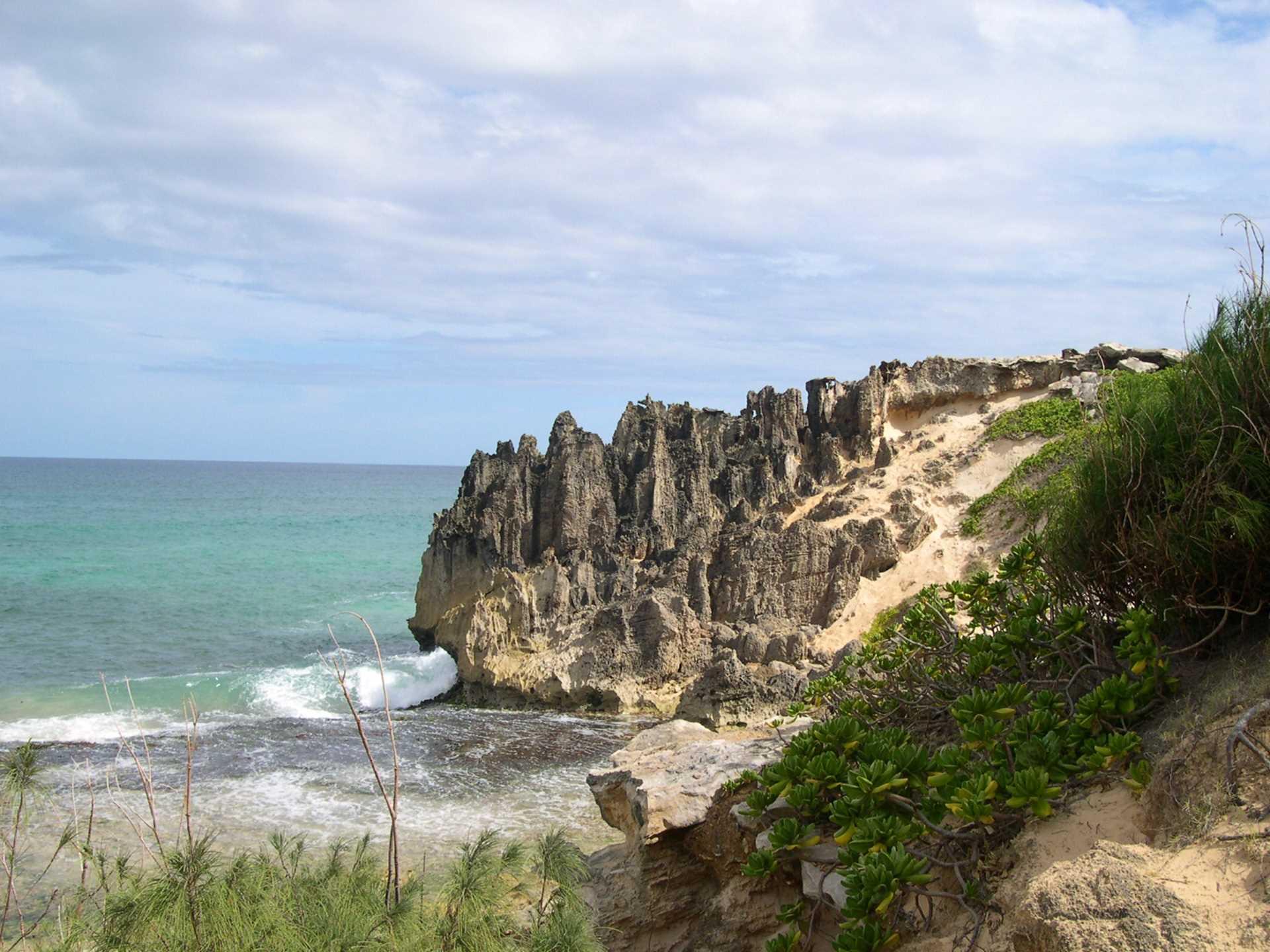 Lithified cliffs near Maha
