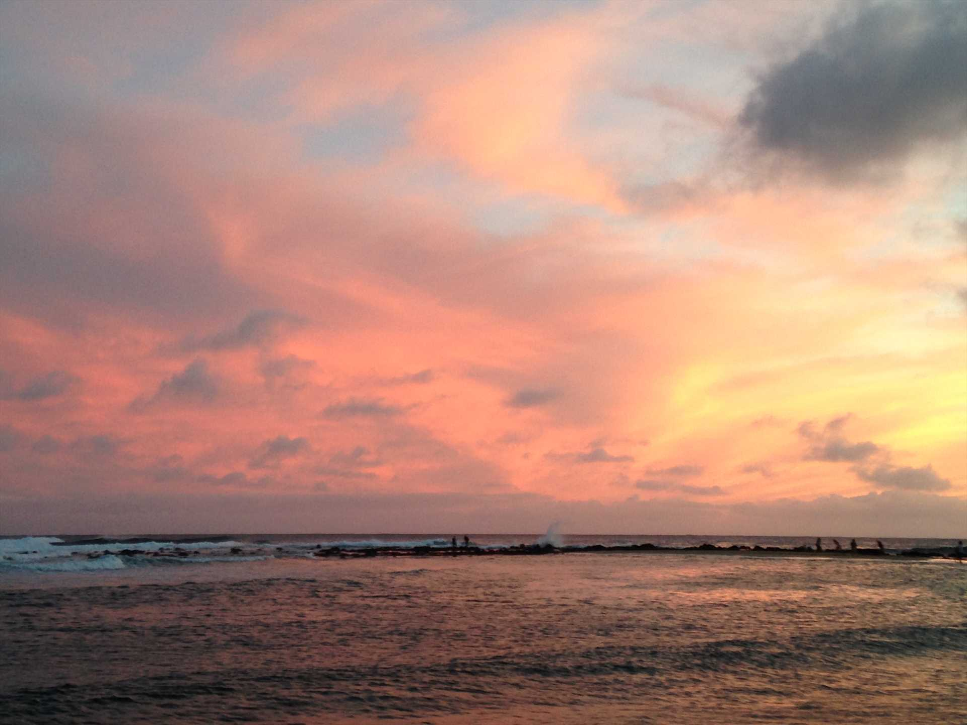Sunset at Poipu Beach