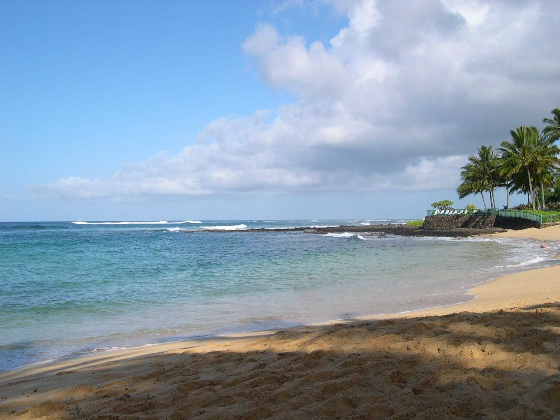 Poipu Beach, great area for year round swimming, surfing, sn