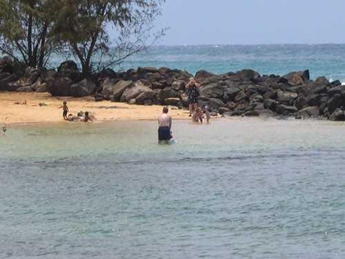 """Poipu beach also has a """"baby beach""""  with protecte"""