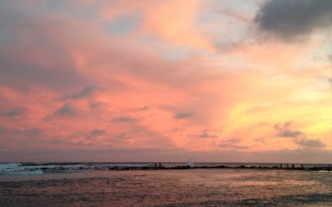 Sunset on Poipu Beach