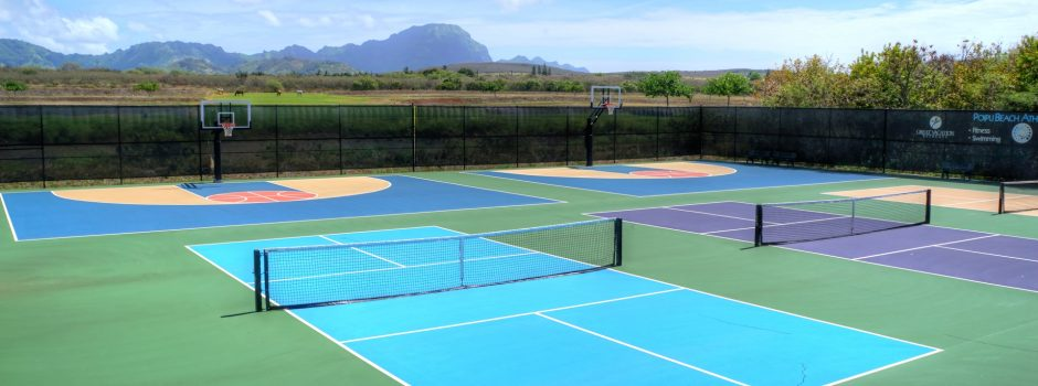 basketball and pickleball courts